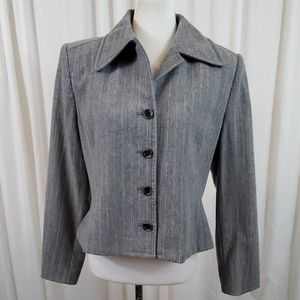 ELLEN TRACY Gray Blazer